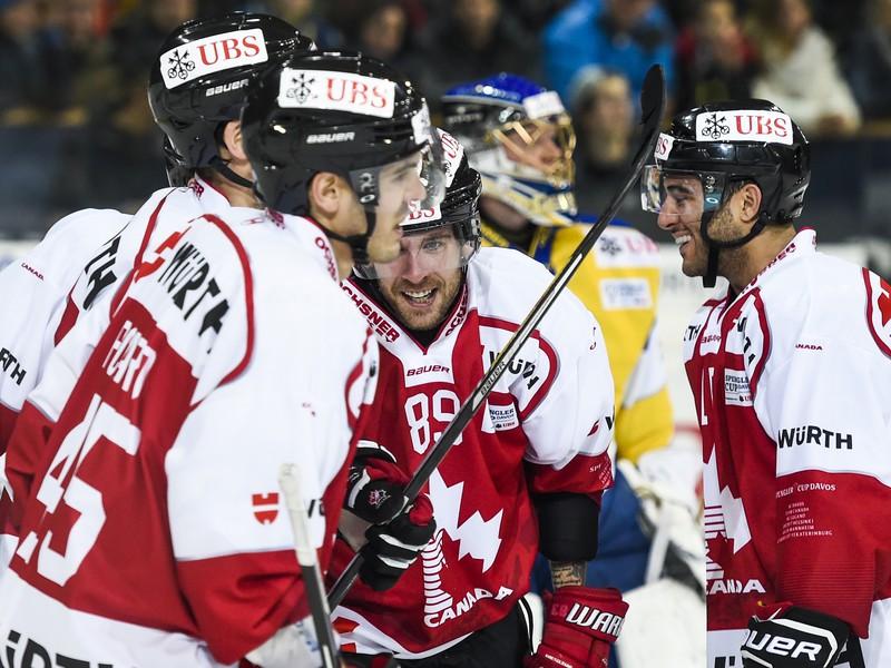 Gólové oslavy hokejistov Kanady