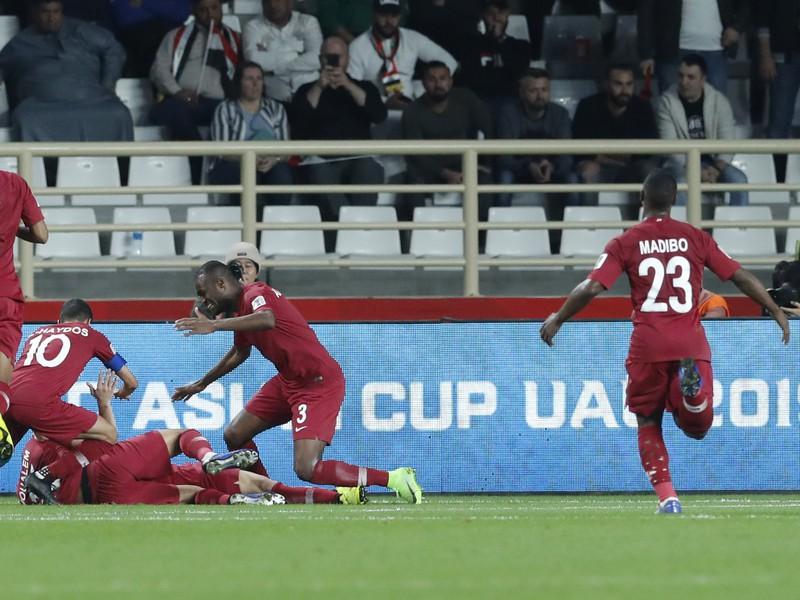 Gólové oslavy futbalistov Kataru