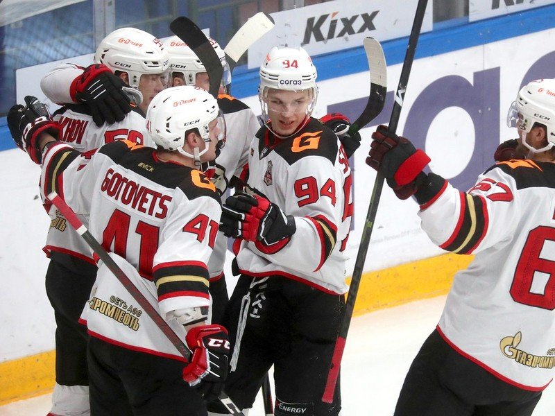 Radosť hráčov Avangardu Omsk