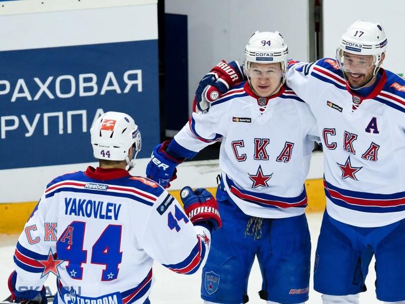 Gólové oslavy hokejistov moskovského CSKA
