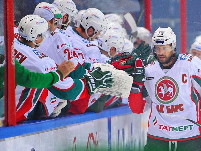 Gólové oslavy hokejistov Kazane