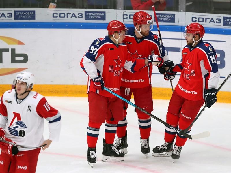 Gólové oslavy hokejistov CSKA Moskva