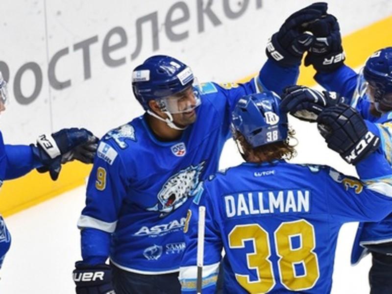 Gólové oslavy hokejistov Barysu Astana