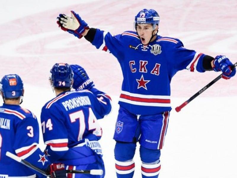 Gólové oslavy hokejistov Petrohradu
