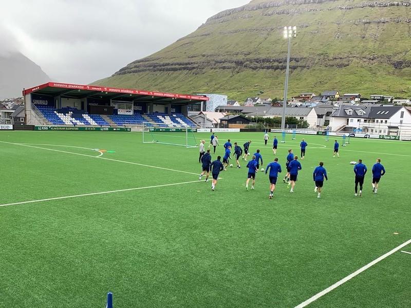 Hráči KÍ Klaksvík na tréningu
