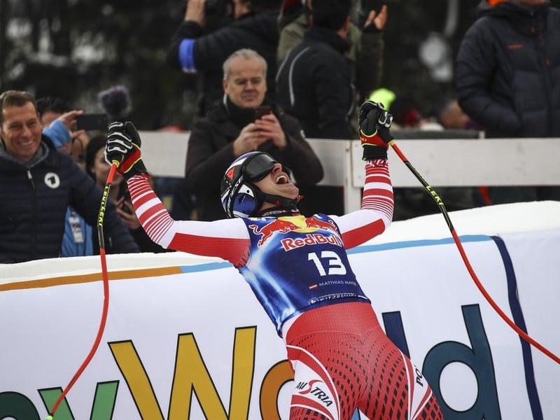 Matthias Mayer sa raduje z víťazstva v rakúskom Kitbuehli