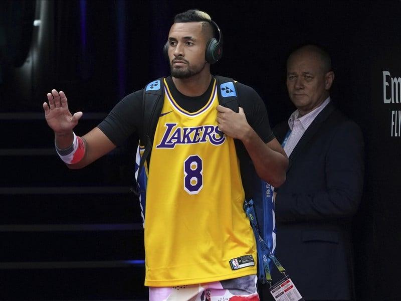 Nick Kyrgios v drese legendárneho Kobeho Bryanta