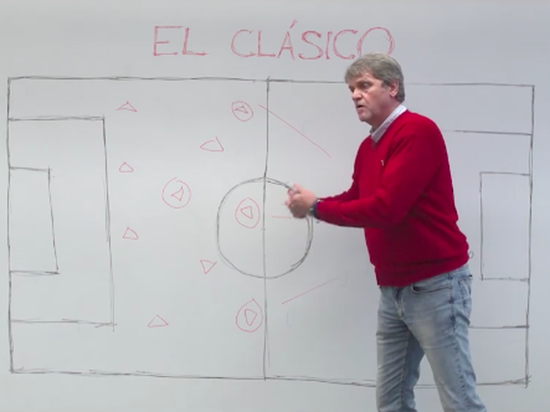 Ladislav Borbély vysvetľuje taktiku pred El Clásicom