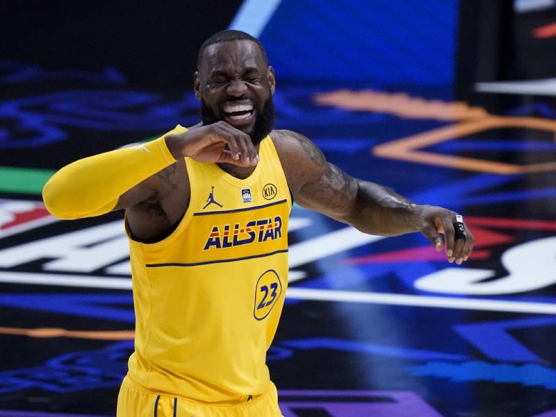 LeBron James počas zápasu hviezd NBA