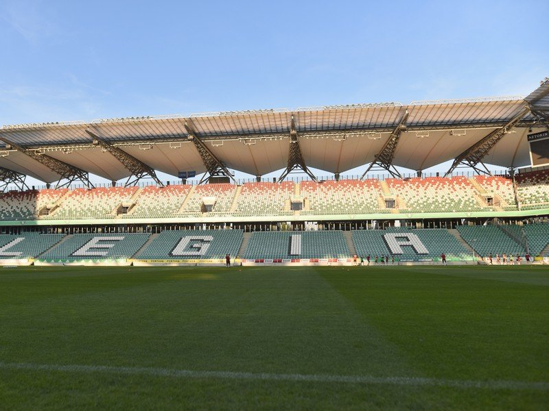 Na snímke štadión Legie Varšava