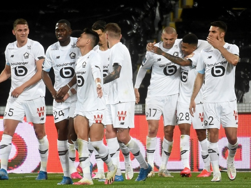 Gólová radosť hráčov LOSC Lille