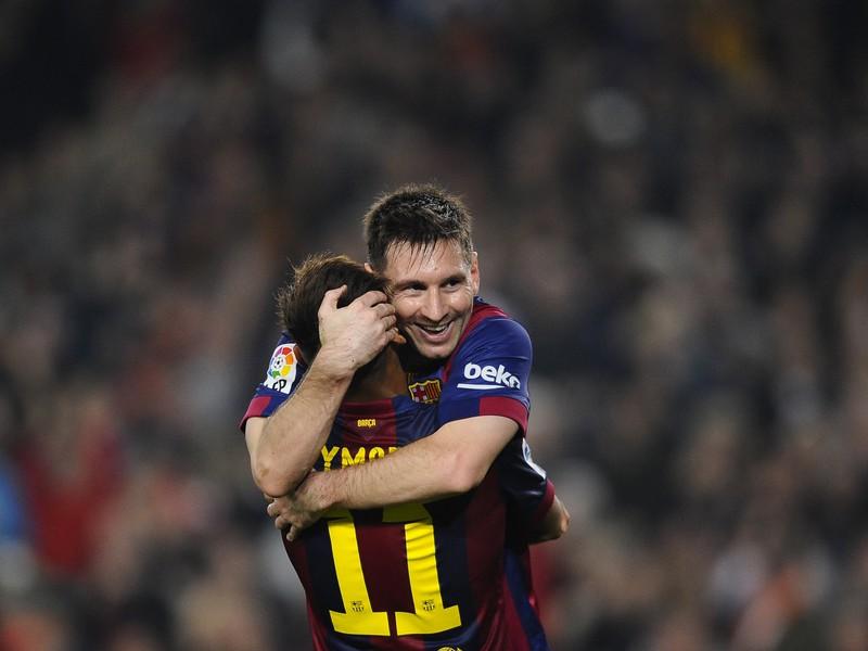 Neymar a Lionel Messi