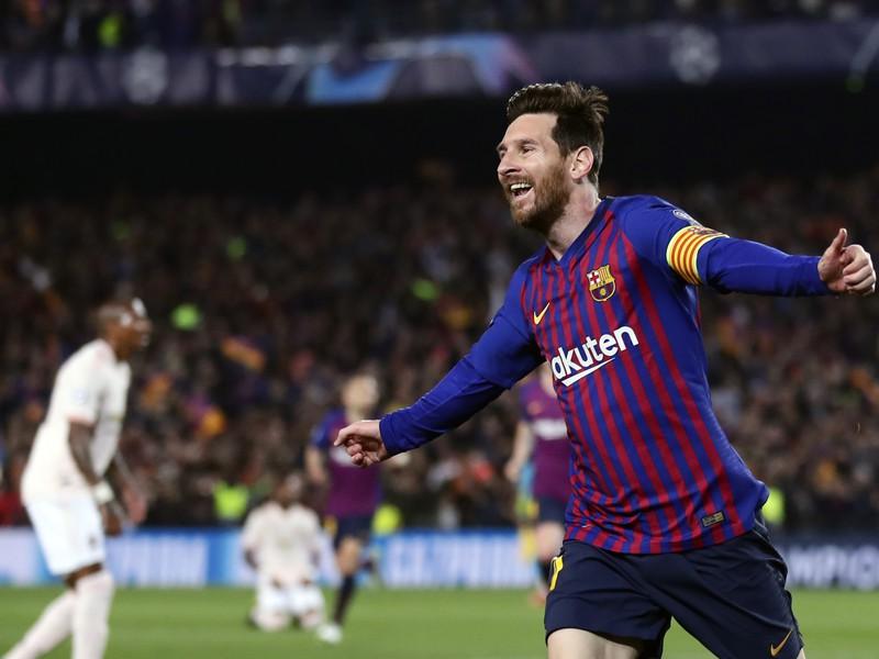Lionel Messi oslavuje gól