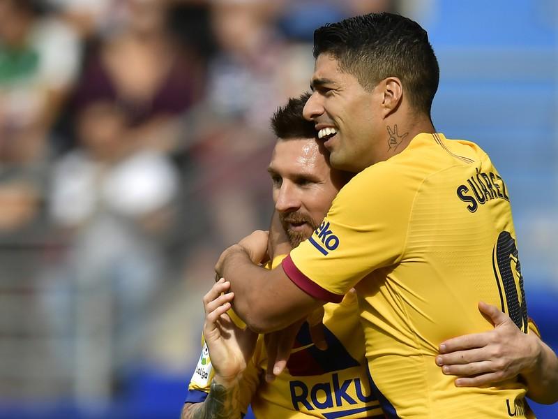 Lionel Messi a Luis Suárez