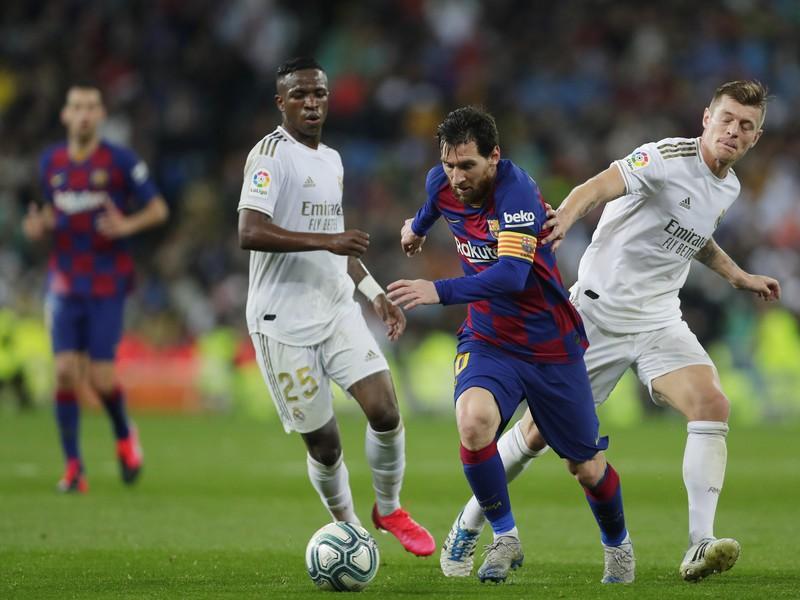 Vinicius Junior, Lionel Messi a Toni Kroos