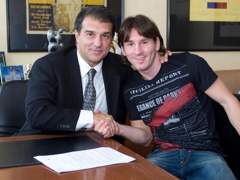 Joan Laporta a Lionel Messi v roku 2015