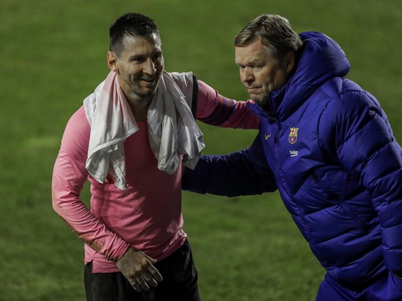 Lionel Messi a Ronald Koeman