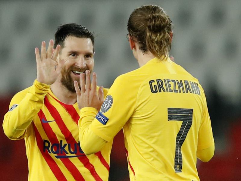 Lionel Messi reaguje v odvete osemfinále Ligy majstrov