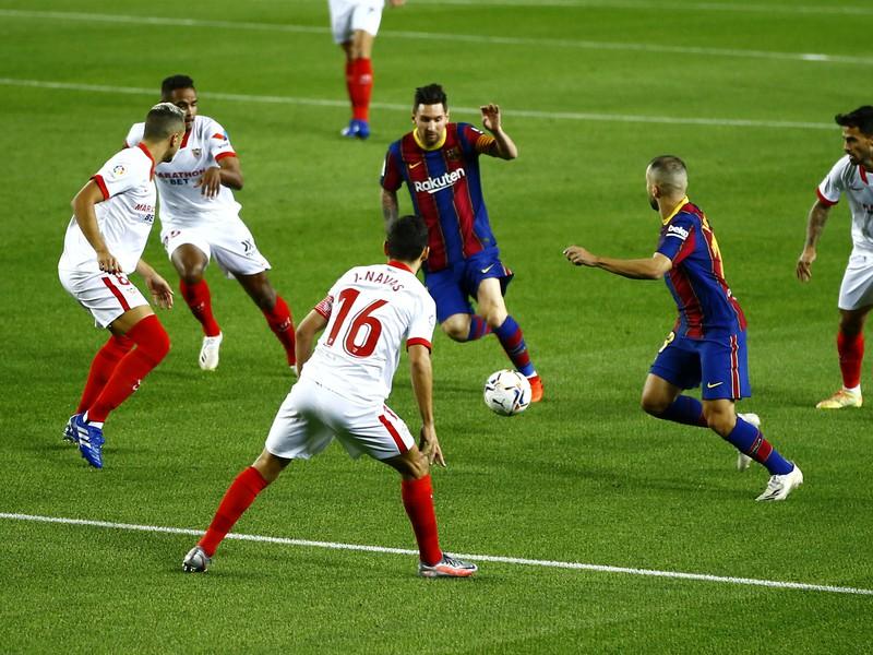 Lionel Messi medzi hráčmi FC Sevilla