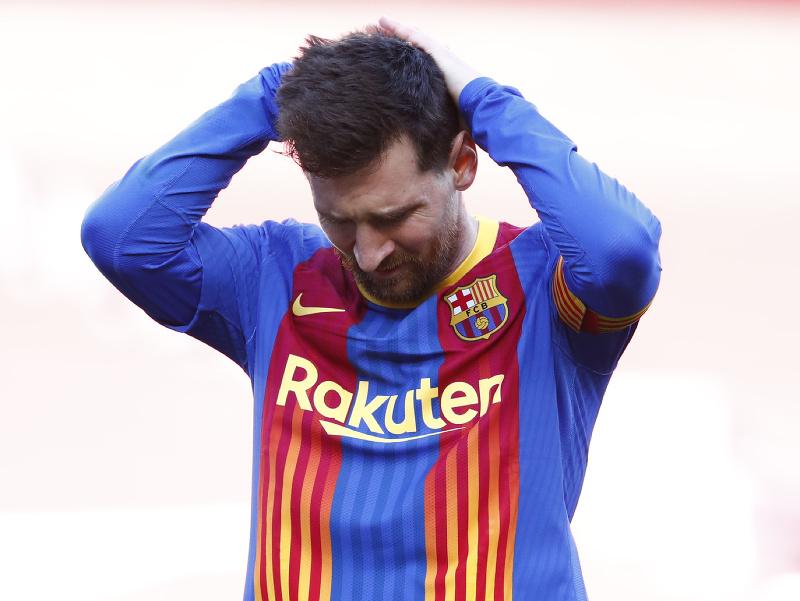 Frustrovaný Lionel Messi
