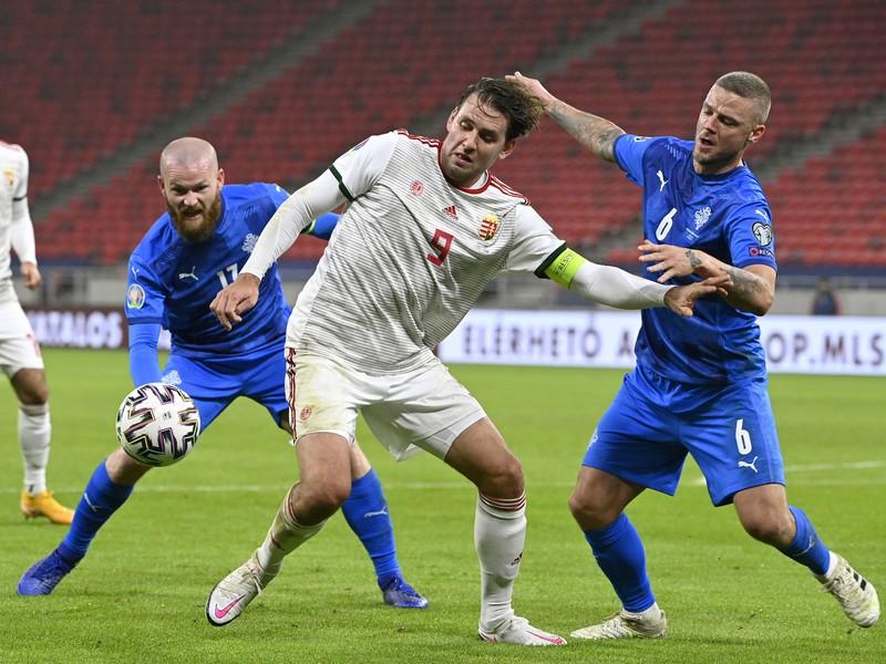 Momentka zo zápasu Maďarsko - Island