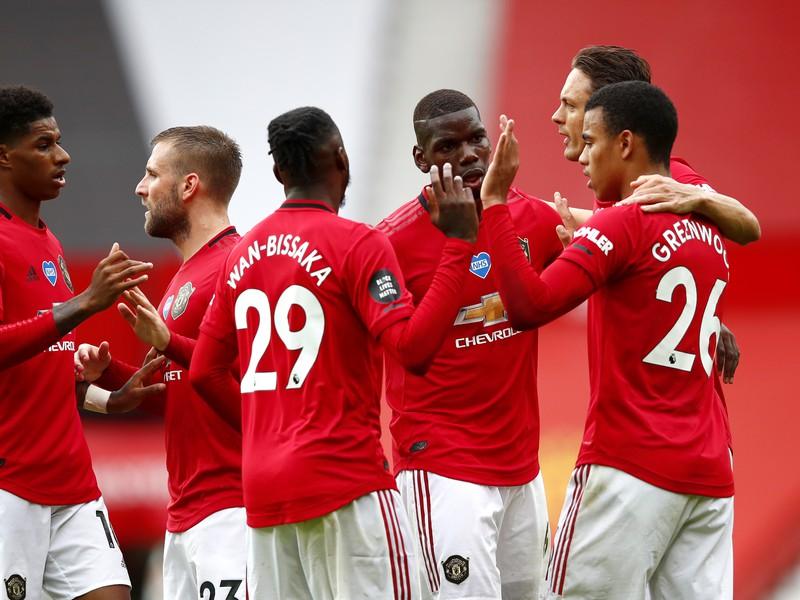 Radosť hráčov Manchestru United