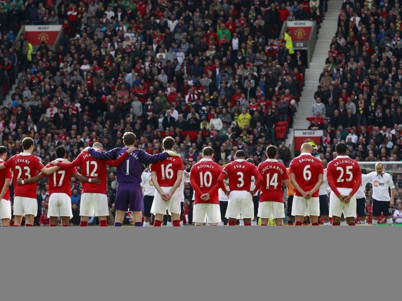 Hráči Manchestru na Old Trafforde