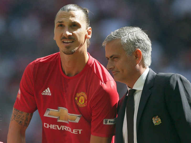Zlatan Ibrahimovič a José Mourinho