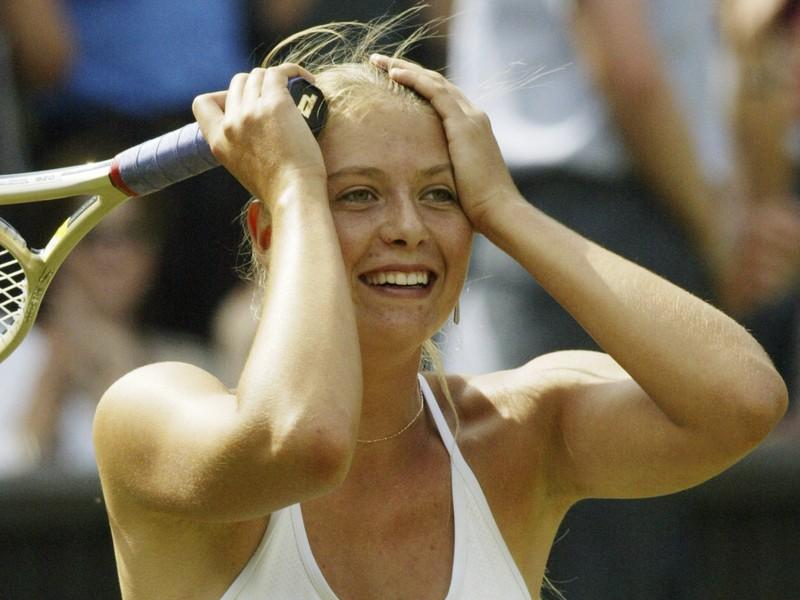Pohľad Šarapovovej po postupe do finále Wimbledonu 2004