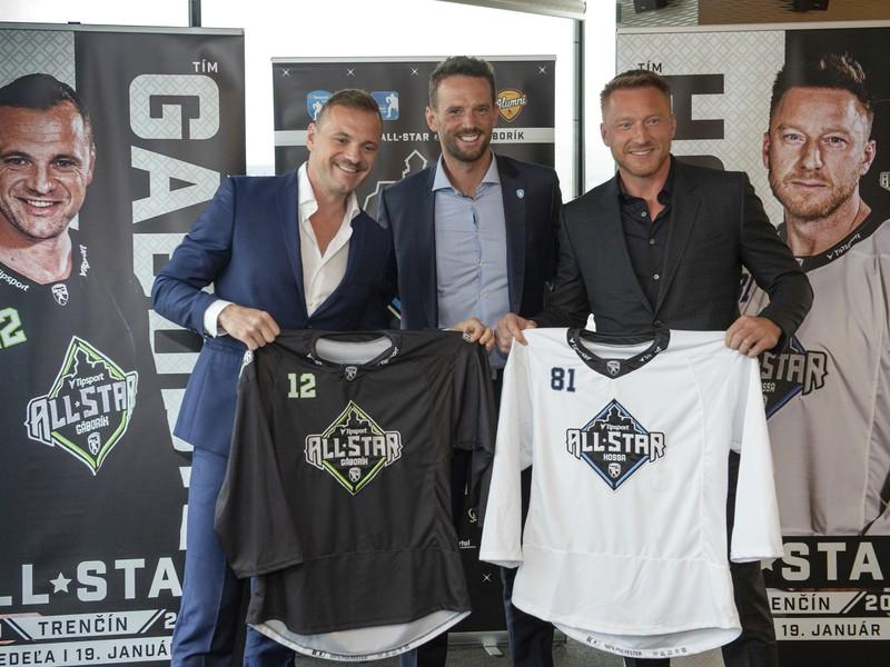 Manažérmi dvoch tímov na All Star Tipsport Ligy Marián Hossa a Marián Gáborík spolu s Richardom Lintnerom