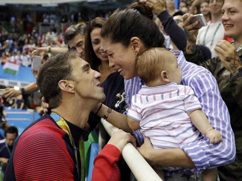 Michael Phelps s manželkou Nicole Johnsonovou