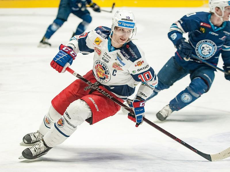 Na snímke kapitán Zvolena Michal Chovan
