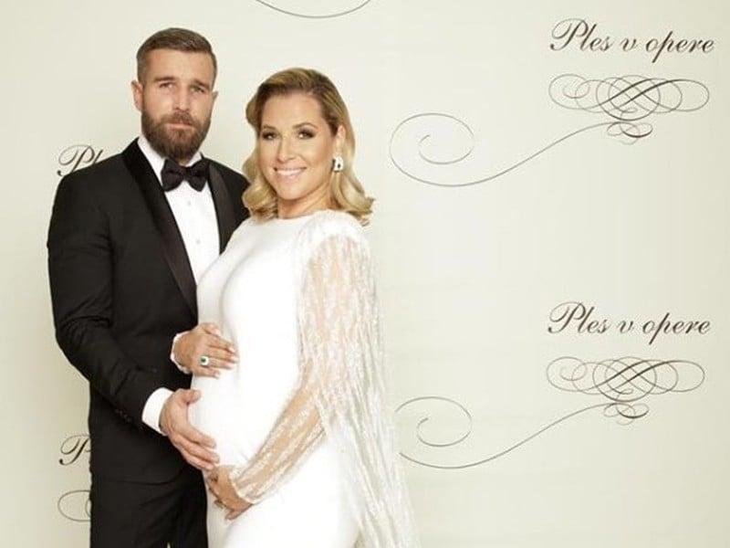 Dominika Navara Cibulková s manželom Michalom