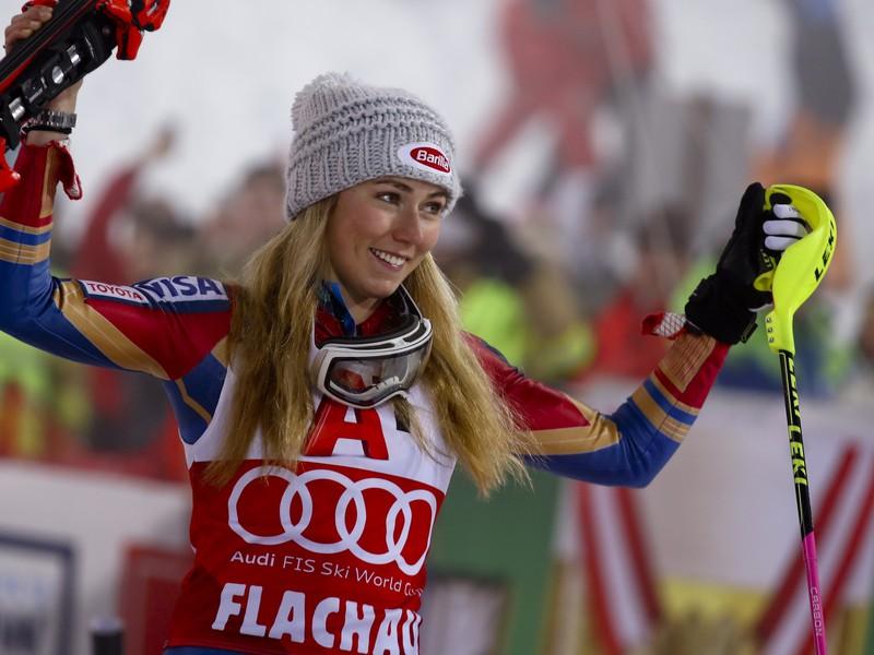 Na snímke americká lyžiarka Mikaela Shiffrinová