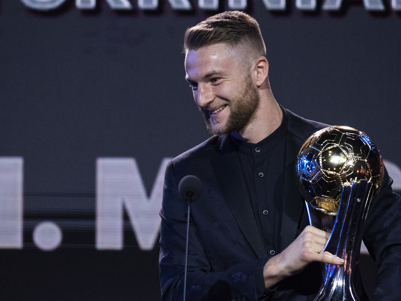 Najlepším futbalistom Slovenska za rok 2020 sa stal obranca Milan Škriniar
