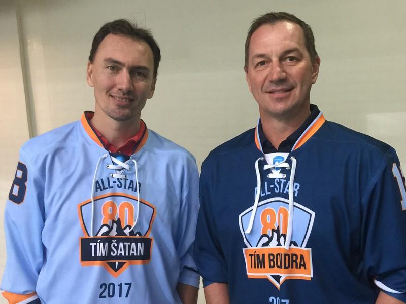 Miroslav Šatan a Peter Bondra