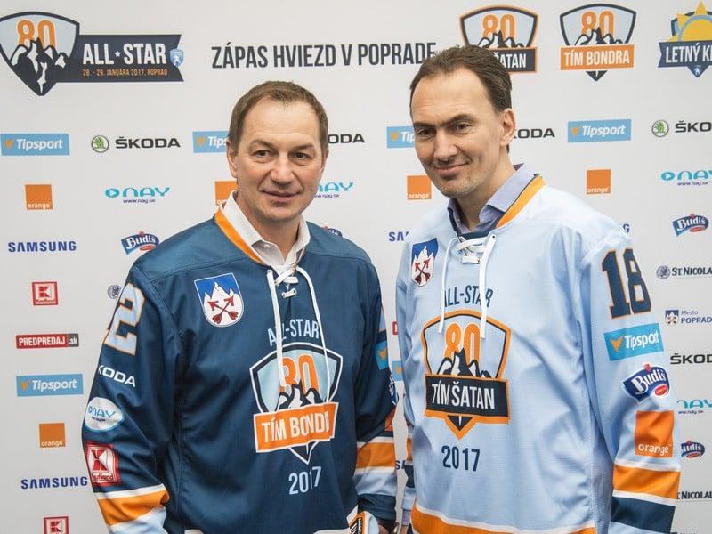 Peter Bondra a Miroslav Šatan