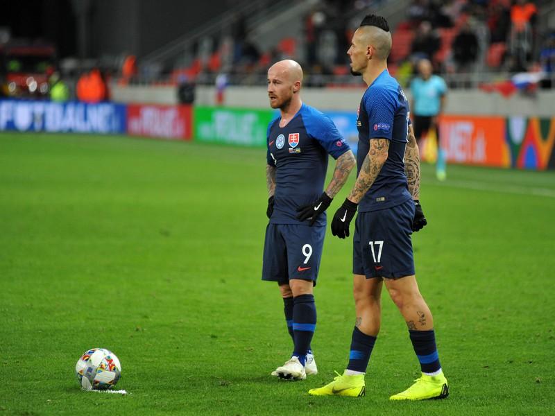 Zľava: Miroslav Stoch a Marek Hamšík