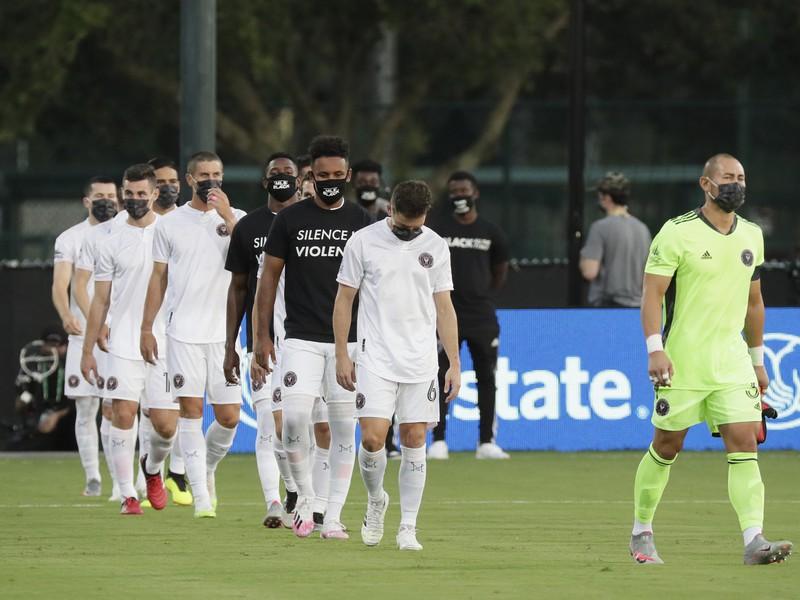 Mužstvo Inter Miami nastupuje na zápas proti Orlandu