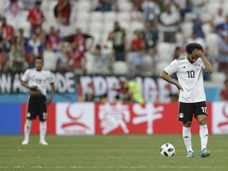 Sklamaný Mohamed Salah po prehre Egypta
