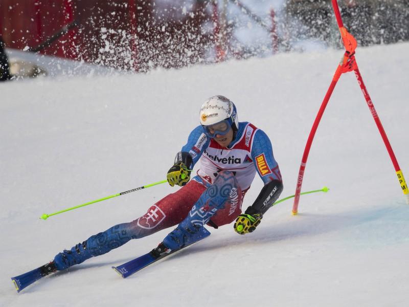 Na snímke slovenský slalomár Adam Žampa v prvom kole obrovského slalomu mužov na majstrovstvách sveta