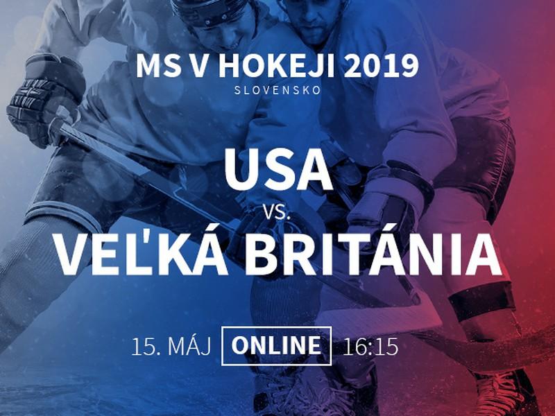 MS v hokeji: USA - Veľká Británia