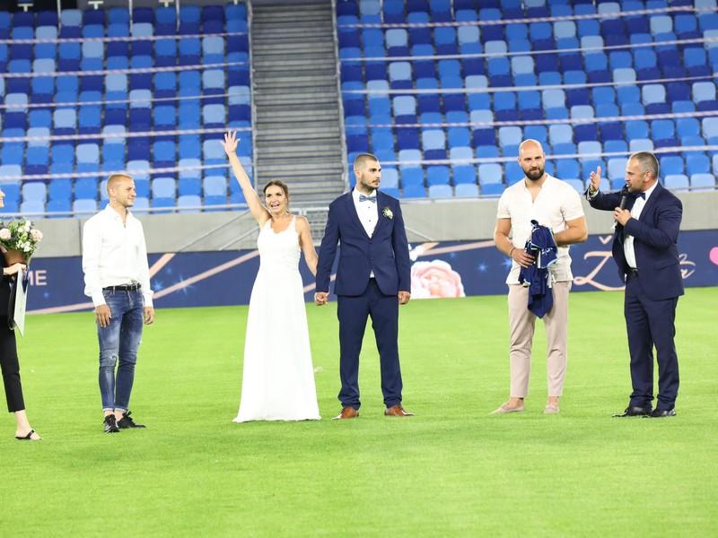 Prvá svadba na Národnom futbalovom štadióne
