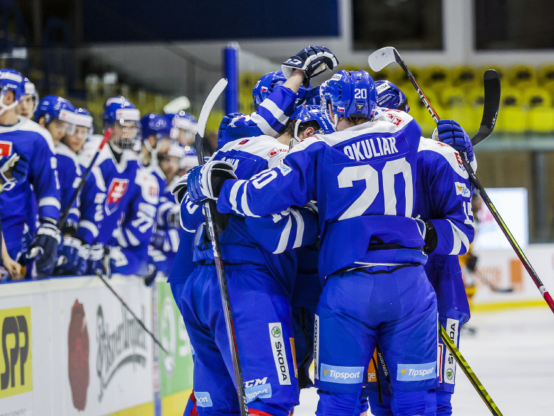 Slovensko oslavuje strelený gól