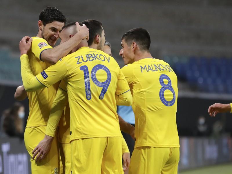 Radosť hráčov Ukrajiny