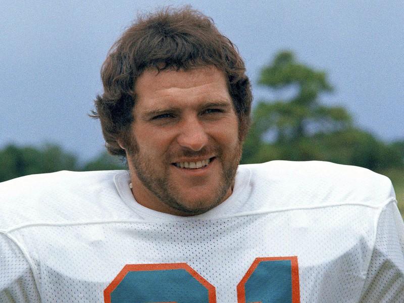 Na archívnej snímke z roku 1973 hráč amerického futbalu v NFL Jim Kiick