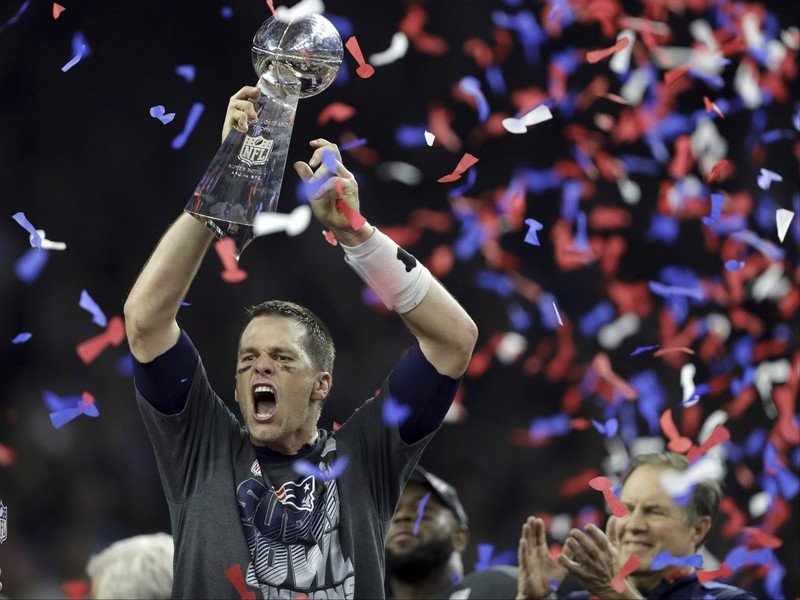 Tom Brady oslavuje