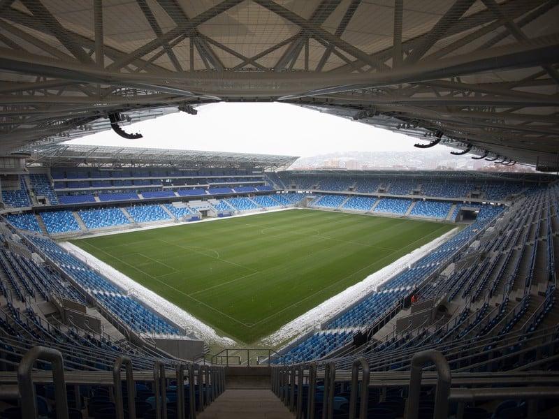 Pohľad na novovybudovaný Národný futbalový štadión