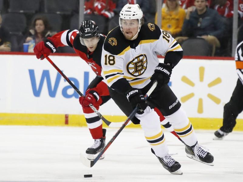 Brett Ritchie ešte v drese Bostonu Bruins