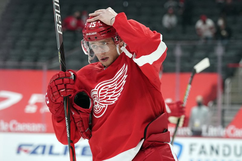 Jakub Vrána v drese Detroitu Red Wings